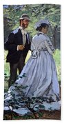 Monet's Bazille And Camille Beach Towel