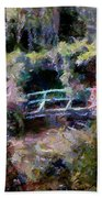 Monet's Bridge In Autumn Beach Towel