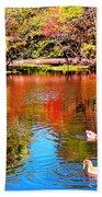 Monet's Garden In Hawaii 2 Beach Towel