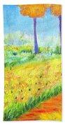 Monet's Garden Path Beach Towel