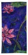 Monet's Lily Pond I Beach Towel
