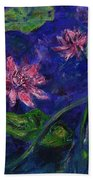 Monet's Lily Pond II Beach Towel