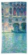 Monet's Palazzo De Mula In Venice Beach Towel