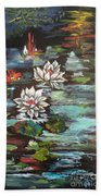 Monet's Pond With Lotus 1 Beach Towel