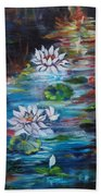 Monet's Pond With Lotus 11 Beach Towel