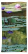Monet's Waterlily Pond Number Two Beach Towel