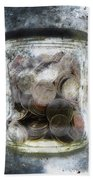 Money Frozen In A Jar Beach Towel by Skip Nall