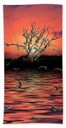 Money Tree Sunset Beach Towel