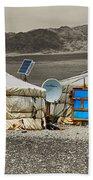 Mongolian Yurts Beach Towel