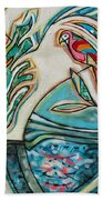 Monkey And Macaw Beach Towel