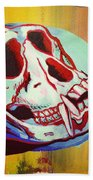 Monkey Skull Beach Towel