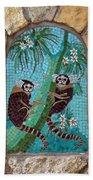 Monkey's Mosiac 02 Beach Towel