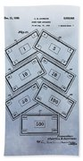 Monopoly Money Patent Beach Towel