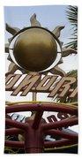 Monorail Signage Disneyland Beach Towel
