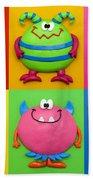Monsters Beach Towel by Amy Vangsgard