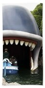 Monstro The Whale Boat Ride At Disneyland Beach Towel