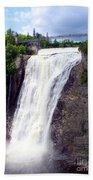 Mont Morency Falls Beach Towel