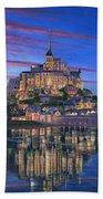 Mont Saint-michel Soir Beach Towel by Richard Harpum