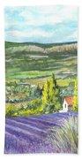 Montagne De Lure In Provence France Beach Towel