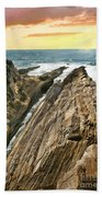 Montana De Oro Shore Beach Towel