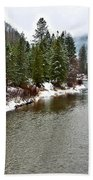 Montana Winter Beach Towel