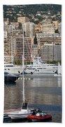 Monte Carlo Sailing - Monaco French Riviera Beach Towel