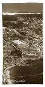 Aerial Of Monterey And Pacific Grove  California Oct. 25 1934 Beach Towel