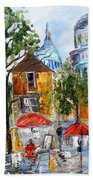 Montmartre Paris Beach Towel
