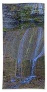 Montour Falls Fall Panorama Beach Towel