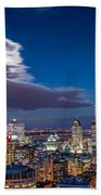 Montreal By Night Beach Towel