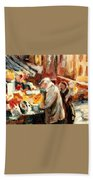 Montreal Market Scene Marche Atwater Beach Towel