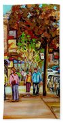 Montreal Streetscenes By Cityscene Artist Carole Spandau Over 500 Montreal Canvas Prints To Choose  Beach Towel