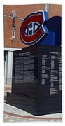 Monument For The Montreal Canadiens Beach Towel