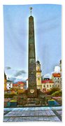 Monument In B.bystrica Beach Towel