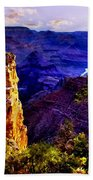 Monument To Grand Canyon  Beach Towel