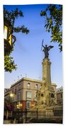 Monument To The Marquis Of Comillas Cadiz Spain Beach Towel