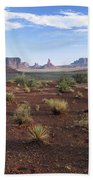 Monument Valley From North Window Beach Towel