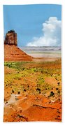 Monument Valley In Spring Panoramic Painting Beach Towel