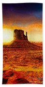 Monument Valley Beach Towel by Mo T