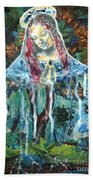 Monumental Tree Goddess Beach Towel