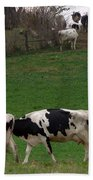 Moo Train Beach Towel