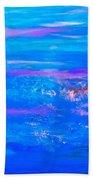 Moody Blues Abstract Beach Towel