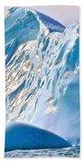 Moody Blues Iceberg Closeup In Saint Anthony Bay-newfoundland-canada Beach Towel