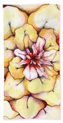 Moon Flower Out Of The Bloomers And Onto The Bloom Beach Towel