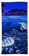 Moon Glow Beach Towel by Carolyn Steele