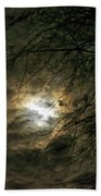 Moon Light With Clouds Beach Towel