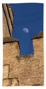 Moon Over Alcazar Beach Towel