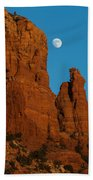 Moon Over Chicken Point Beach Towel