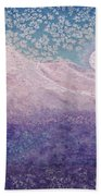 Moon Over Snowy Peaks Beach Towel