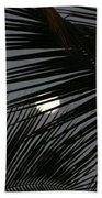 Moon  Through Palm Trees Beach Towel